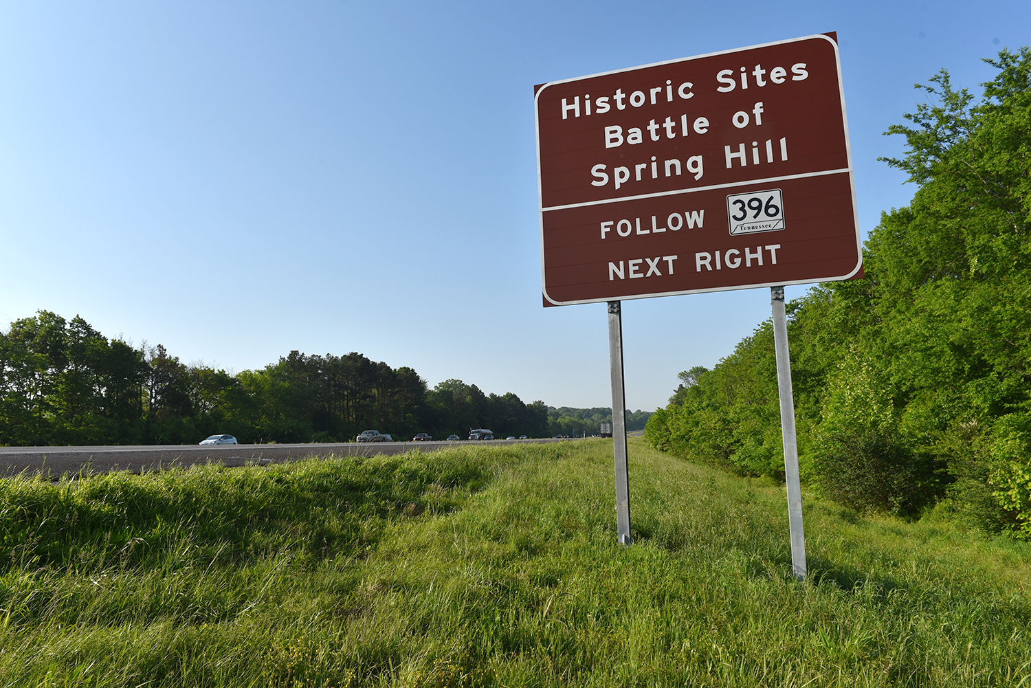 Historic tourism signage on I-65