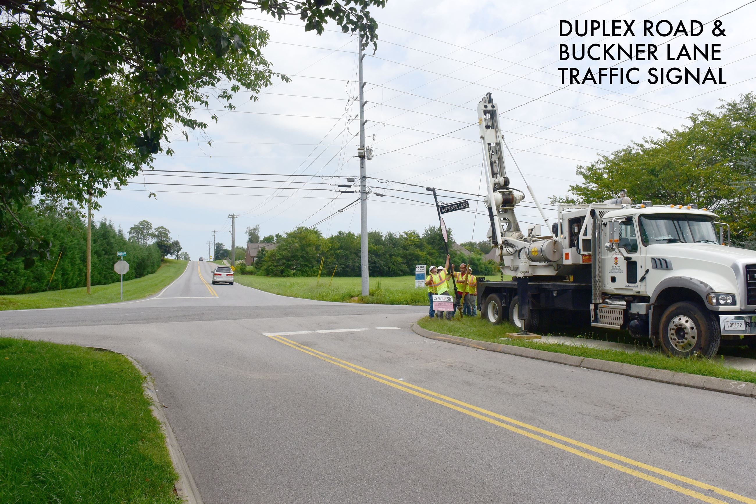Duplex Road and Buckner Lane traffic signal