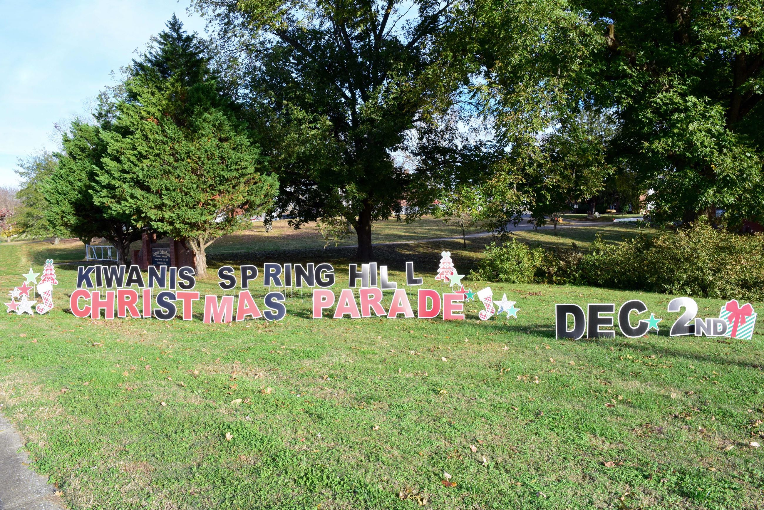 Christmas Parade sign