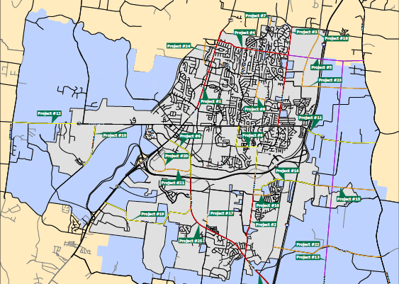 Proposed Major Thoroughfare Plan Projects Map October 29, 2018