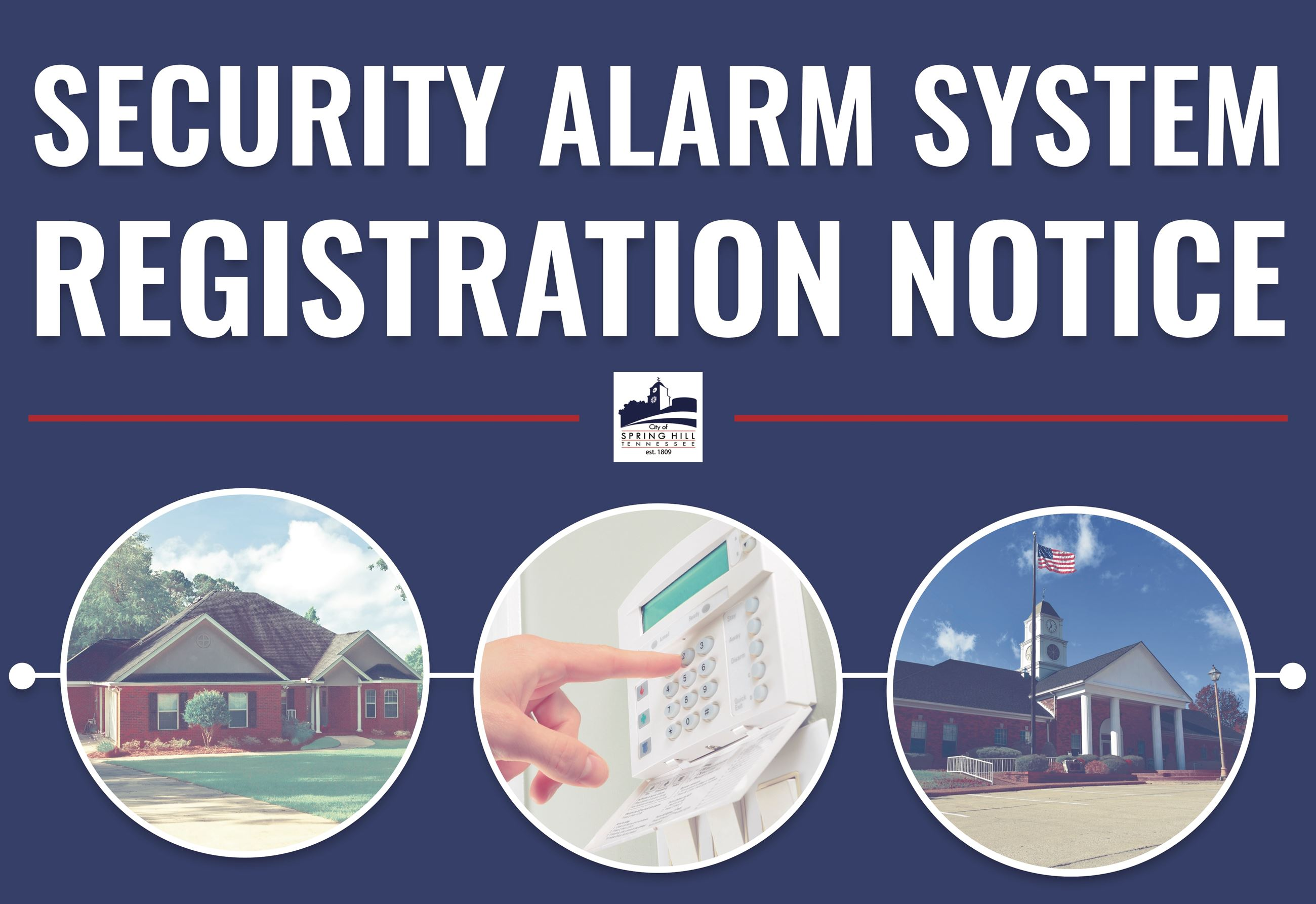 Security Alarm Registration Notice