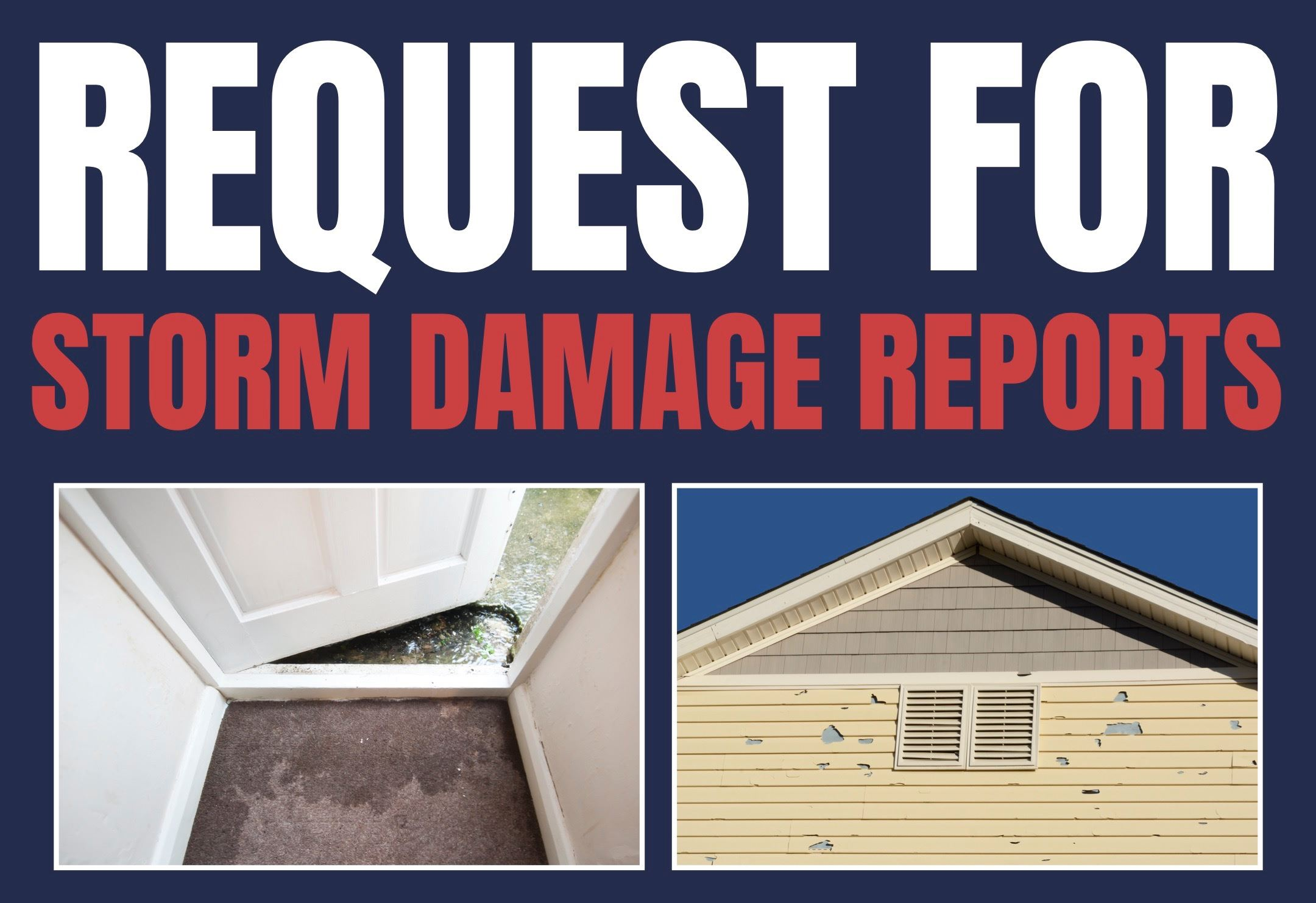 Request for Citizen Storm Damage Reports
