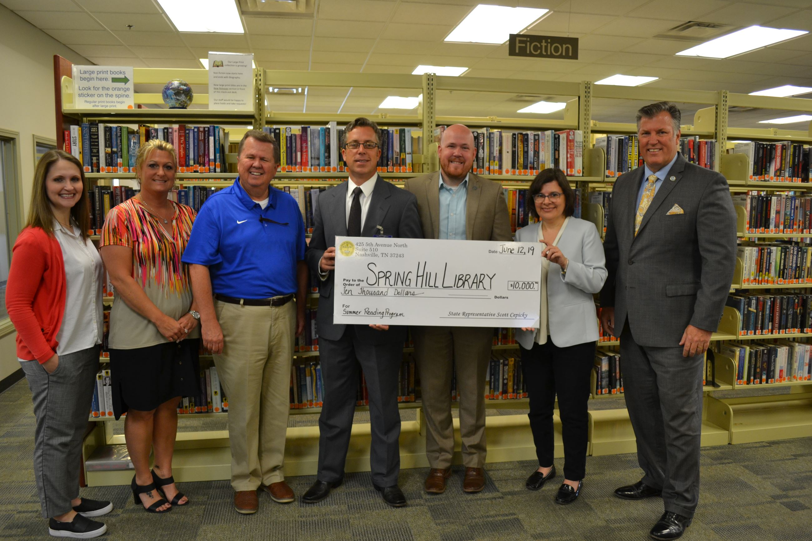 Spring Hill Public Library receives ten thousand dollar State Appropriation for Summer Reading Pilot