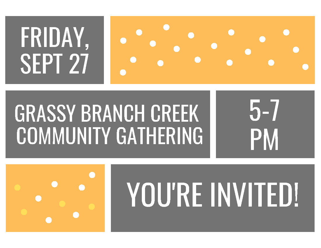 Tennessee Environmental Council Community Gathering Invite for the Grassy Branch Creek Restoration P