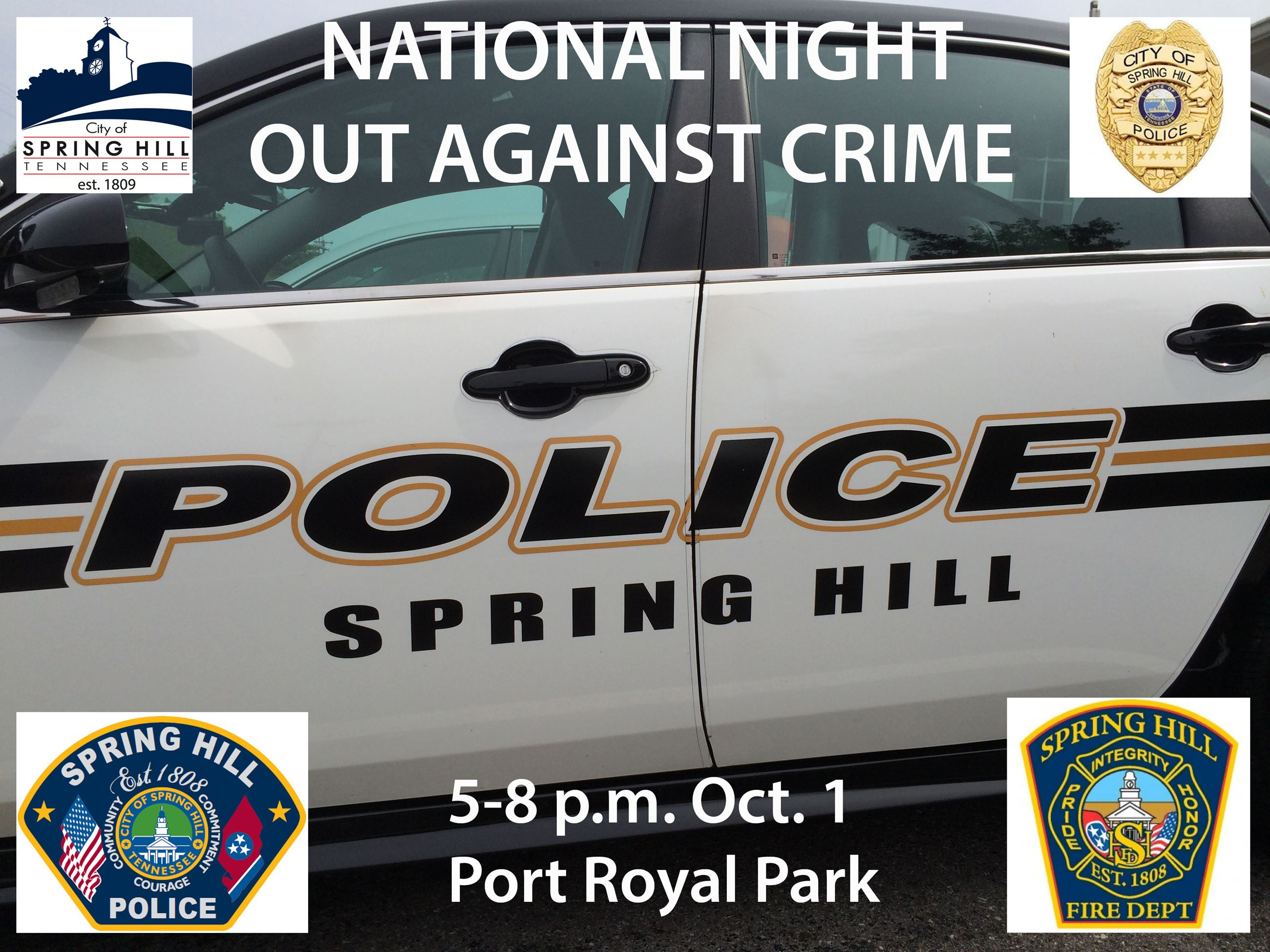Night Out Against Crime in Spring Hill 2019