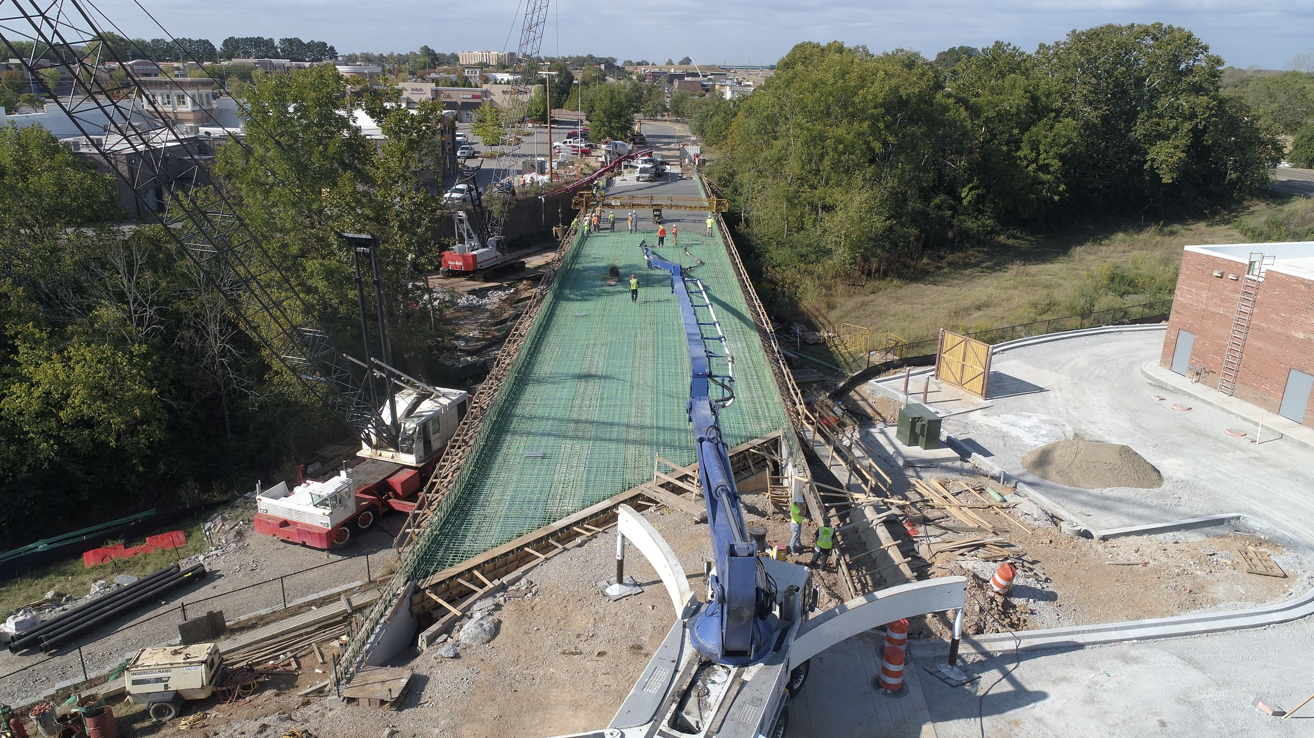 Crossings Circle North Bridge construction