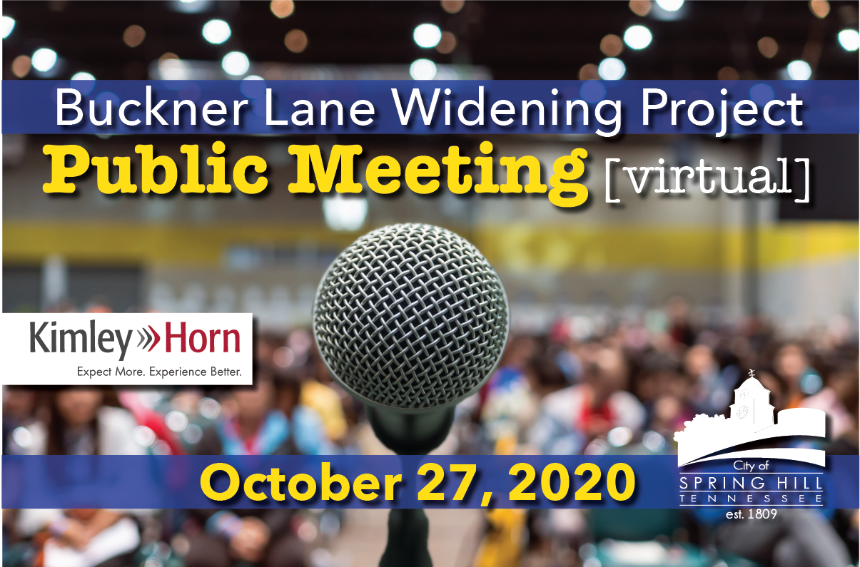 Buckner Lane Widening Oct 27 Meeting graphic