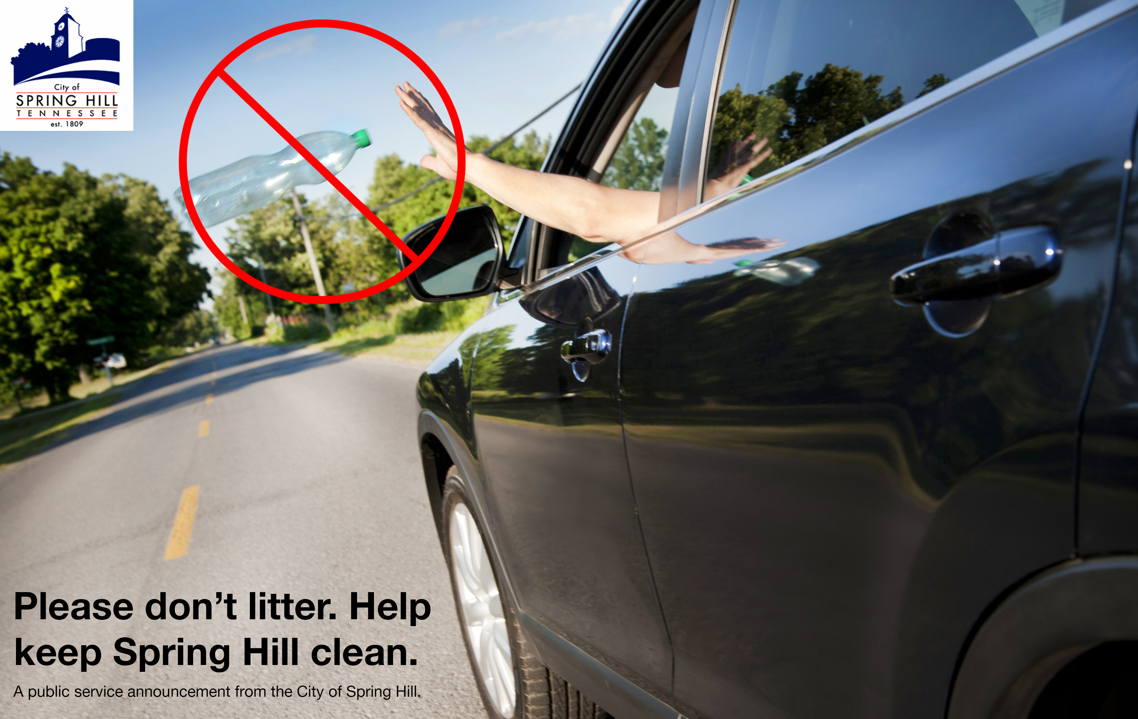 PSA Please don't litter. Help keep Spring Hill clean