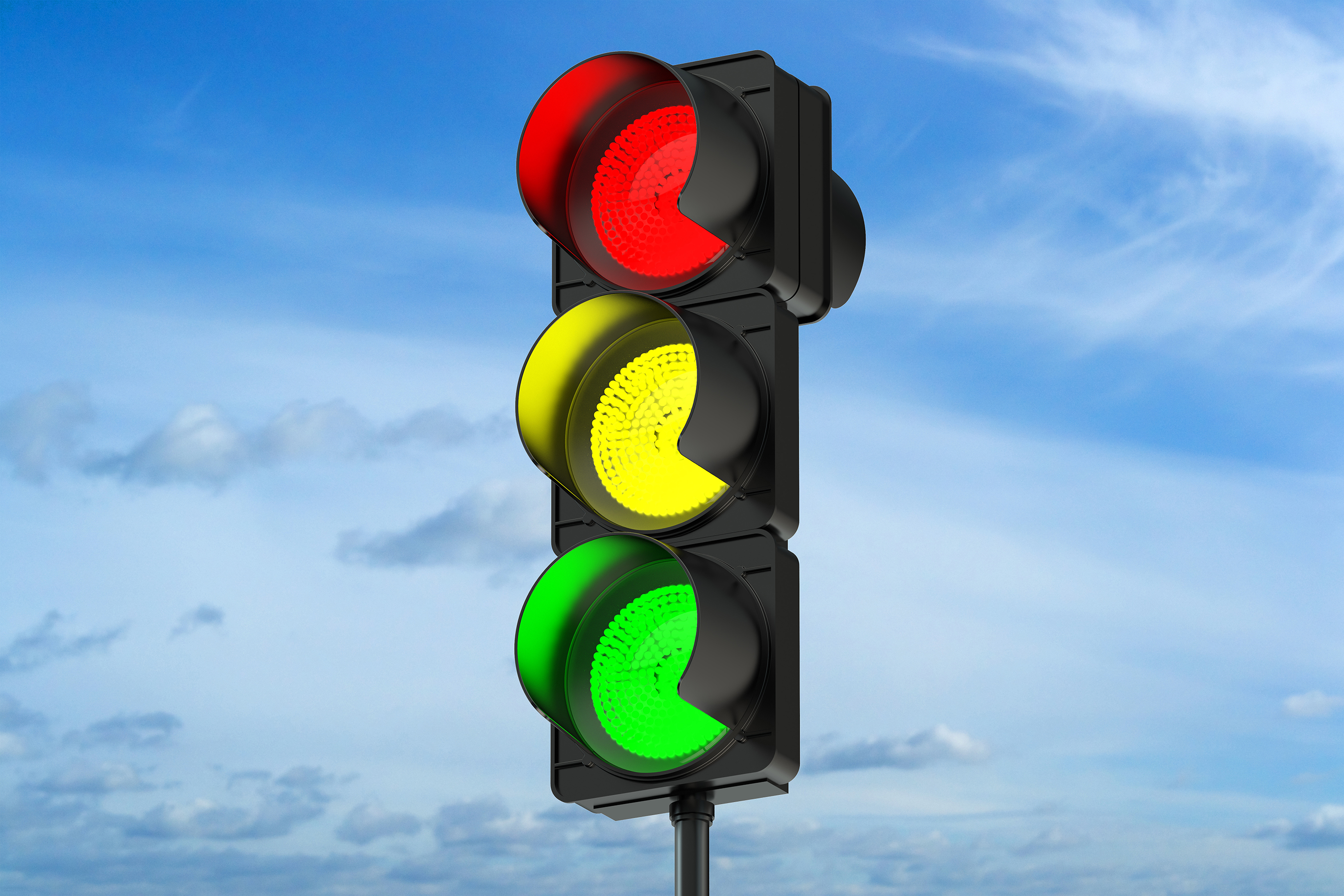 Traffic signal at Duplex and Port Royal Road